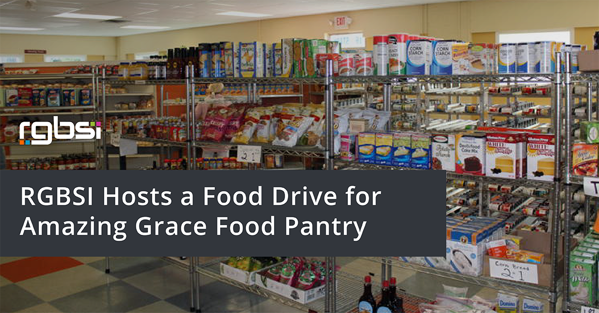 RGBSI Hosts a Food Drive for Amazing Grace Food Pantry