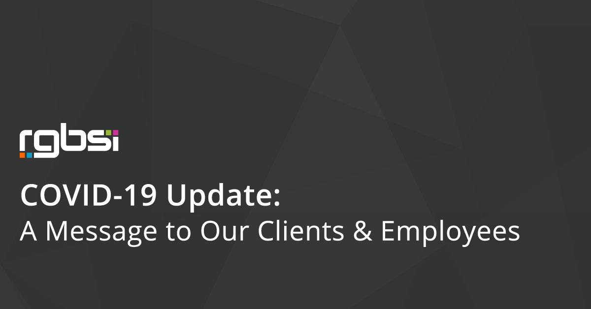RGBSI COVID-19 Update