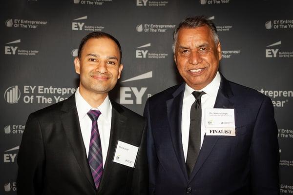 Ravi Kumar and Dr. Singh at the EOYMNO Gala
