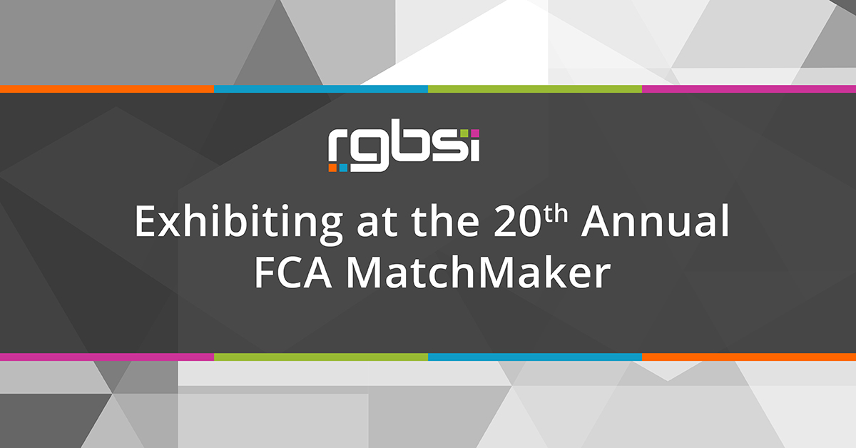 RGBSI Exhibiting at the 20th Annual FCA MatchMaker