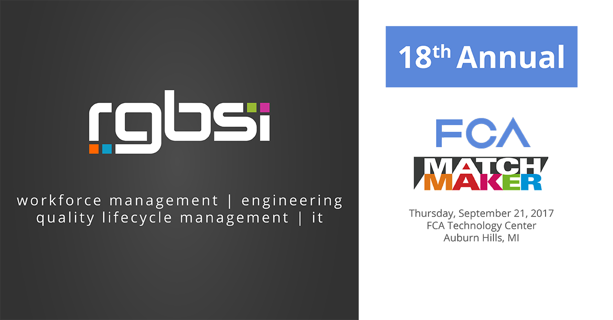 RGBSI Exhibits at FCA MatchMakers 2017-01